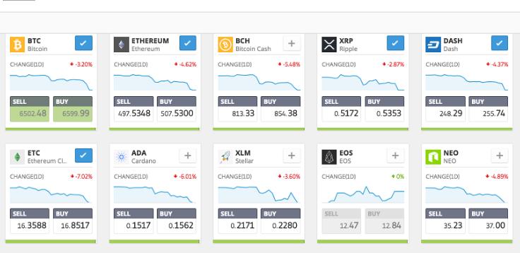 trading cryptos etoro
