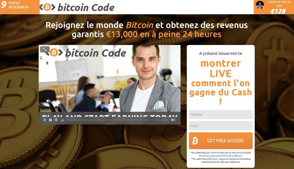 bitcoin code avis interface